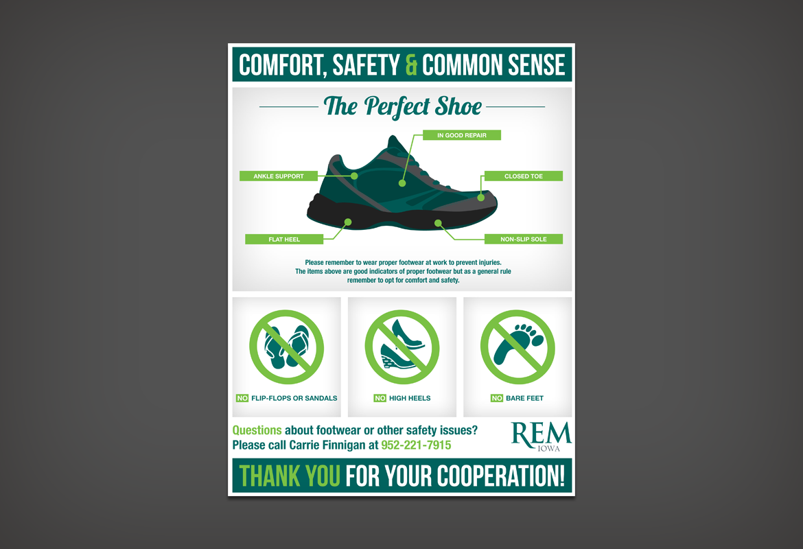 Poster design guidelines - When My Employer Asked Me To Design A Poster Outlining Guidelines For Proper Footwear I Was Ready For The Challenge What Challenge You Ask